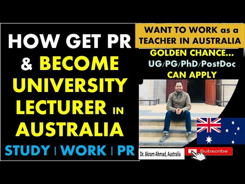 How to become university lecturer/professor in australia    want to work as a teacher ?