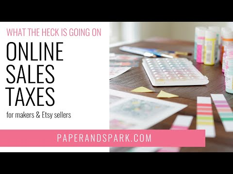 How to deal with sales tax as an etsy seller